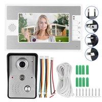 7in Kablolu Görüntülü Kapı zili interkom TFT Ekran Gece Görüş Uzaktan Erişim Sistemi 100-240 kapı zili su geçirmez