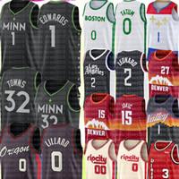 2021 Anthony 1 Edwards Karl-Anthony 32 Cidades Jersey Damian 0 Lillard Damian 00 Lillard Jersey Zion 1 Williamson Basketball Jerseys
