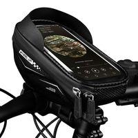 Mobiltelefonhalterungen Inhaber Universal 6,5 Zoll TPU Touchscreen Wasserdichte Bikeständer für SE 2021 11 Pro Max XS GPS Bicycle-Lenker-Tasche