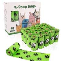 개 똥 가방 16 생분해 성 애완 동물 폐기물 가방 디스펜서 환경 친화적 인 누출 증거 가비지 가방 고양이 용