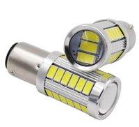 Inny system oświetleniowy 2 sztuk wysokiej mocy Super jasny 1157 Zatoka 15d P21 / 5W 33 SMD 5630 LED Strobe Tail Light Hamulec Bulb 1