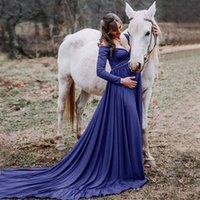 Длинный хвост беременных Платья для беременных Фото Забросьте фотографии реквизита Maxi Платья для беременных Одежда Беременность платье