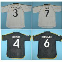 Thai 98 99 00 01 Real Madrid Retro Jersyys 1998 1999 Soccer Jersey Vintage Classic 2000 2001 Raul Redondo Mijatovic Camisetas Camicia