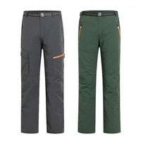 Hombres campamentos Pantalones de senderismo Juegos de chaquetas Hombres Mujeres Primavera Verano UV Pantalones al aire libre Masculino Secado rápido Softsell Pantalón con cinturón1
