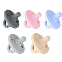 확장 가능한 젖꼭지 실리콘 신생아 노리머 솔리드 컬러 아기 잠자는 편리한 젖꼭지 rn8112