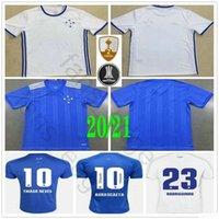 2020 Novo Cruzeiro Futebol 10 DE Arrascaeta THIAGO NEVES ROBINHO ROMERO personalizada 20 21 Casa Fora Azul Branco Football Shirt