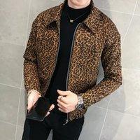 2021 otoño nuevos hombres leopardo chaqueta y abrigo diseñador de moda chaqueta de cuero de hombre con cremallera Club de hombres Club de ropa