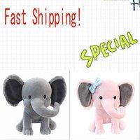 2 색 아이들 코끼리 소프트 베개 박제 만화 동물 부드러운 인형 장난감 아이들이 자고 다시 쿠션 어린이 생일 선물
