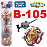 100% original Takara Tomy Beyblade Burst B-105 Starter Set w / launcher como juguetes de día de los niños lj201216