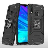 Cubierta de protección Teléfono móvil Soporte de armadura de carcasa para Huawei P30 P40 NOVA 5 P SMART 2019 Y9 Y6 con anillo magnético