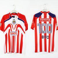 Frete Grátis 2006 Chivas Bofo 100 Meu anjo Chicharito O.bravo Vintage Soccer Jersey