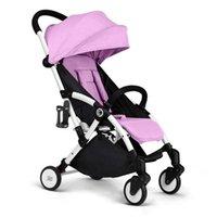 Cochecitos # Cochecito de bebé Nación un amortiguador de cuatro ruedas ligero, plegable, sentado y mentira.