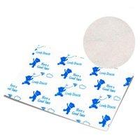 200 pcs / lote envoltório de doces azul urso em branco nougat checkered torcendo a festa de papel de cera comemorar decoração de açúcar wrappers papel de óleo1