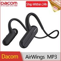 헤드폰 이어폰 Dacom Airwings MP3 스포츠 블루투스 이어폰 8GB MP3 플레이어 IPX7 Huawei 용 방수 무선 헤드셋