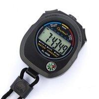 Elektronik Kronometre Siyah Taşınabilir Hayat Su Geçirmez Zamanlayıcı Koşu Maç Koç Hakem Chronograph Açık Spor Araçları Aksesuarları 5 5ZJ N2