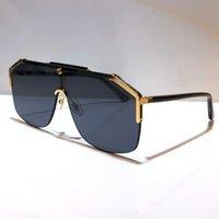Wholesale -Designer Gafas de sol para mujeres y hombres Unisex Medio marco Revestimiento Lente 0291 Máscara Gafas de sol Piernas de fibra de carbono Estilo clásico de verano