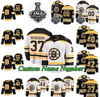 Stanley Cup Final Boston Bruins Formalar Erkekler Bayan Çocuk David Backes Jersey Anders Bjork Coyle Deprusk Gaunce Hokey Formaları Özel Dikiş