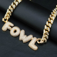 Whosale A- Z 0- 9 Hip Hop Custom Name Initial Letters Pendant ...