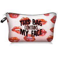 Polyester Lippen Digital Printing Handtasche Multi-Entwurfs-Frauen Make-up Lagerung Mode Kosmetik-Beutel Kultur tragbare Tasche 6MB L2