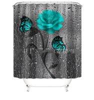 Poliestere Panno Doccia Tenda Moda Abbigliamento Home Decor Stampa digitale Fiore impermeabile Tende da bagno Forniture per la casa conveniente 46yj f