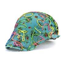 Berels kadın Çiçekçi Dantel Renk Baskı Visor Bere Kap Şapka Yaz Düz Duckbill Şapkalar Kız Için