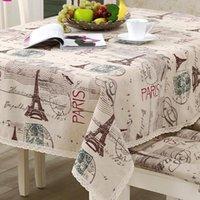 Tabela de pano de mesa Tower Torre Decorativa Toalha de Tablecloth Cobertura Retangular Toalha de Tablecloths