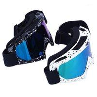 التزلج على الجليد نظارات مزدوجة عدسة المضادة للأشعة فوق البنفسجية نظارات سكيجلاسيس