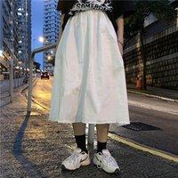 Japonés de gran tamaño de color sólido mujer moda casual harajuku ins diversión ulzzang suelto verano colegio elegante cintura alta kg-234