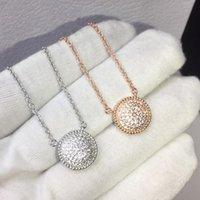 Rose Gold 925 Silber Acht-Stern-Perlmutterfalter Compass Halsketten-Anhänger für Frauen-Mode-Schmucksachen für Frau