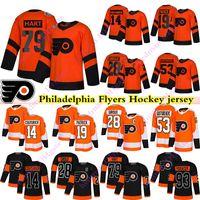 Filadelfia Flyers Jerseys 79 Carter Hart 28 Claude Giroux 14 Sean Couturier 19 Nolan Patrick 93 Jakub Voracek Gostisbehere Hockey Jersey