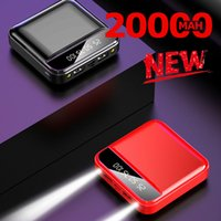 Mini Power Bank 20000MAh Powerbank Charger Dual USB Ports External Battery Poverbank Portable for iPhone Samsung Xiaomi Free Shipping