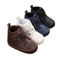 الرضع بنين بنات عالية أعلى أحذية رياضية أحذية رياضية المضادة للانزلاق لينة الوحيد الوليد الأولى مشوا الأحذية 1