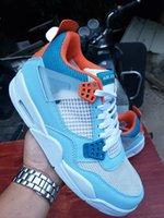 Yeni 4 IV Union Açık Mavi OW Erkekler Basketbol Ayakkabıları Erkek 4 S Sneakers Spor Açık Eğitmenler