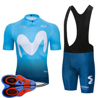 Nuovo 2020 Team Movistar Ciclismo Bicycling Maillot Bottom Wear Jersey Bike Shorts Set Summer Quick Dry Pro Mens Ropa Ciclismo Y20070801