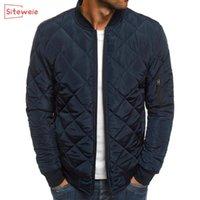 SITEWEIE Мужской моды сгущает ветровки куртки осени зима теплых пальто Outwear Спорт Повседневной куртка Мужчина Zipper Одежда G496