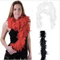 1.8m yeni Glam Sineklik Dans Fantezi Elbise Kostüm Aksesuar Tüy Boa Eşarp Wrap Burlesque Can Salon