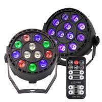 Disco Light 12W LED PAR RGBW DMX Bühnenbeleuchtung Effekt Licht für Hochzeit DJ Event Party Show