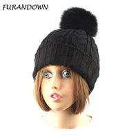 Furandown Fur Pompom Hat Donne Donne Cap Lady Berryies Brand Pompons Hats1