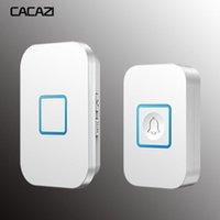 Cacazi Home Wireless Türklingel wasserdicht 1 2 Sender 1 2 3 Receiver Batterie Bell Chime US EU UK AU-Plug 300m Remote1