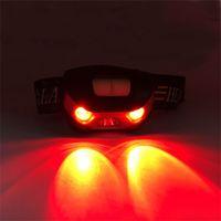 USB تهمة كشافات 3W الأبيض الأحمر ضوء ماء الصيد في الهواء الطلق التخييم ليلة ركوب الخيل مصباح قابلة للشحن الأداة العملية 17SJ J2