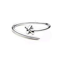 Wholesale trendy nudo nudo acero inoxidable puños pulseras 18k oro color brazalete pulsera para mujeres diseñador brazaletes joyería enlace