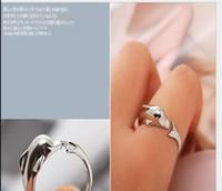 돌고래 반지 결혼 반지 손가락 패션 쥬얼리 공장 가격 무료 배송 PS0740