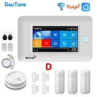 Alarm Sistemleri Gautone WiFi GSM Ev Sistemi Hırsız Güvenlik İtfaiye Dumanı Dedektörü ile 433mhz Tuya Akıllı Hayat