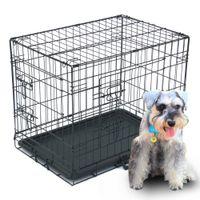 "24 ""Pet Kennel Cat Dog Pieghevole in acciaio Cassa Animal Play Player Metallo"