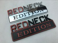 شحن مجاني abs البلاستيك الأحمر الرقبة redneck طبعة سيارة شعار شارة ملصق 3d