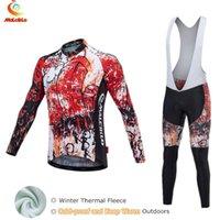 Malciklo 2020 Serin Maillot Bisiklet Takımı Termal Bisiklet Giyim Ropa Jersey Kış Bisiklet Giyim Sıcak Suit tutun Wear