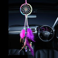 Colorful Bright Handmade Dream Catcher Colorful Feather Home...