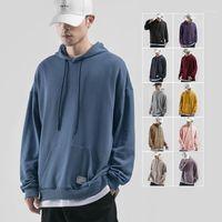 iidossan mens clássico hoodies cor sólida hoodies homens outono streetwear Hiphop moda casual masculino moda regular algodão marca tops1