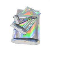 shiny Laser Aluminum Foil Self Adhesive Retail Bag for Christmas Gift Candy Mylar Foil Packing Pouch Grocery Crafts Packaging Express Bag