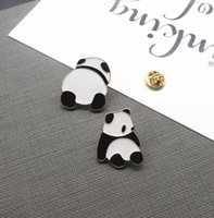 wholesale 12 pcs  lot high quality metal enamel panda brooch...
